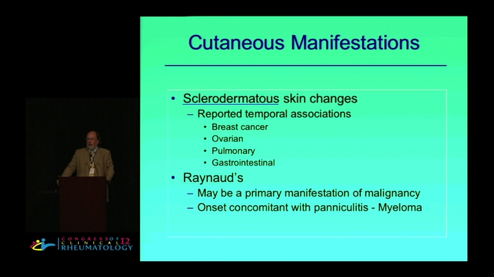 Rheumatic Manifestations of Cancer