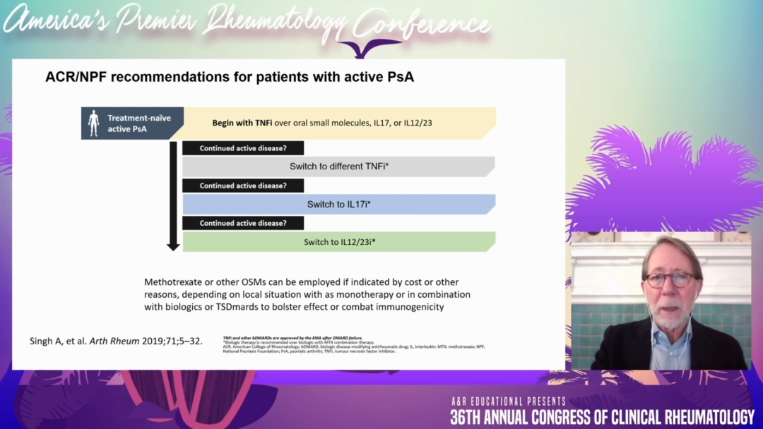 Psoriatic Arthritis Therapy: Recent Data and Concepts - Philip Mease