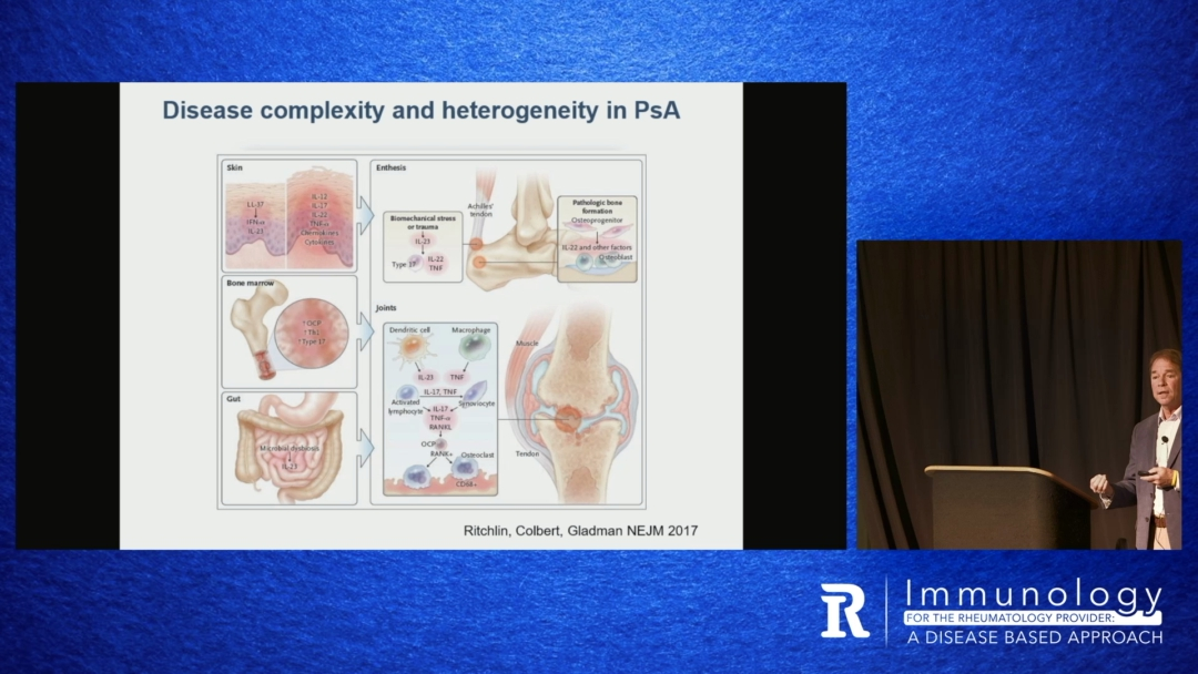 The Immunology of Psoriatic Arthritis & Ankylosing Spondylitis & Their Immunologically Targeted Treatments - Christopher Ritchlin, M.D., M.P.H.
